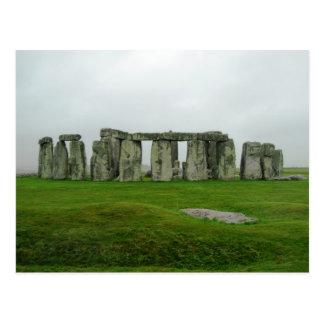 StoneHenge England prähistorische Monument-Wunder Postkarte