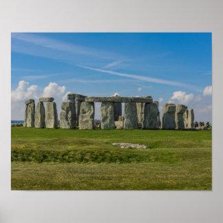 Stonehenge in England Poster
