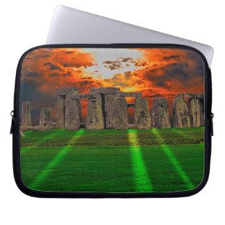 Stonehenge keltische stehende Steine in Laptopschutzhülle