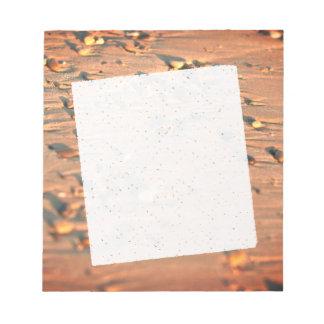 Stones man Beachthe in beiges colors Notizblock