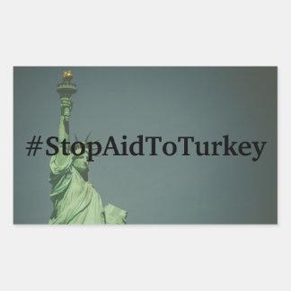 #StopAidToTurkey Aufkleber