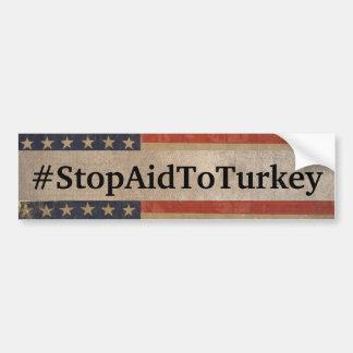 #StopAidToTurkey Autoaufkleber