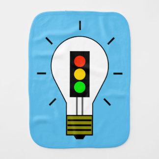 Stoplight-Glühlampe Baby Spucktuch