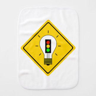 Stoplight-Glühlampe voran Baby Spucktuch