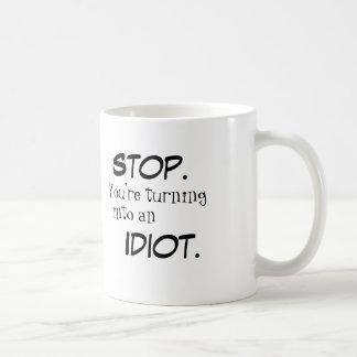 STOPP/IDIOT Tasse