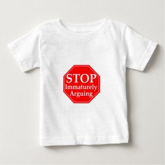 Stoppen Sie, #2 zu argumentieren Baby T-shirt