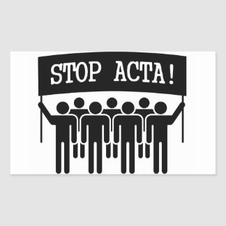 Stoppen Sie ACTA Rechteckiger Aufkleber