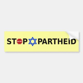Stoppen Sie Apartheid Autoaufkleber