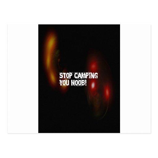 Stoppen Sie Camping Sie Noob Postkarten