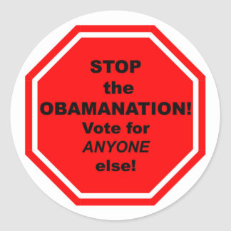 Stoppen Sie das Obamanation! Runde Aufkleber