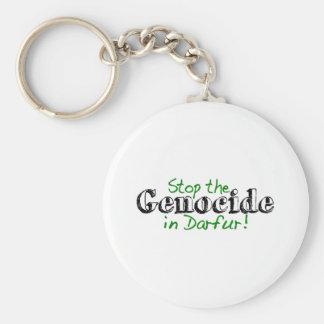 Stoppen Sie den Genozid Darfur Schlüsselanhänger