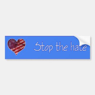 Stoppen Sie den Hass Autoaufkleber