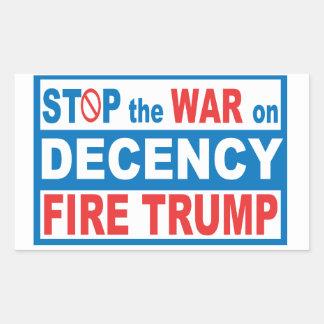 Stoppen Sie den Krieg auf Anstands-Aufkleber Rechteckiger Aufkleber