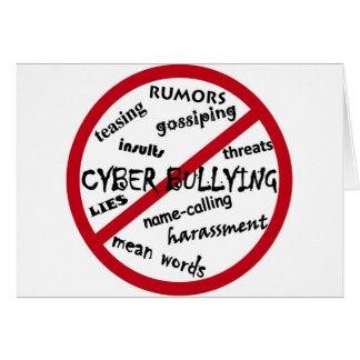 Stoppen Sie die Cyber-Einschüchterung Karte