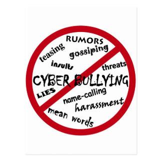Stoppen Sie die Cyber-Einschüchterung Postkarte