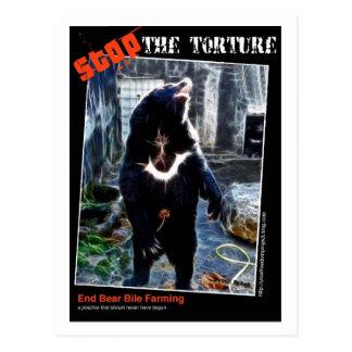 Stoppen Sie die Folterung Postkarte