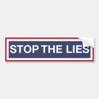 Stoppen Sie die Lügen Autoaufkleber