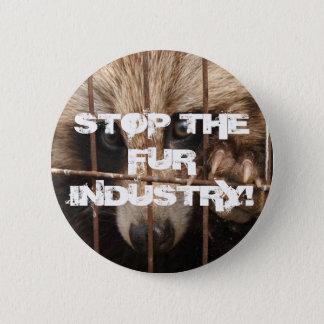 Stoppen Sie die Pelz-Industrie Runder Button 5,7 Cm