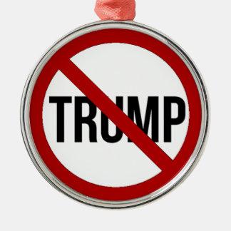 Stoppen Sie Donald Trump Anti-Trumpf 2016 Silbernes Ornament