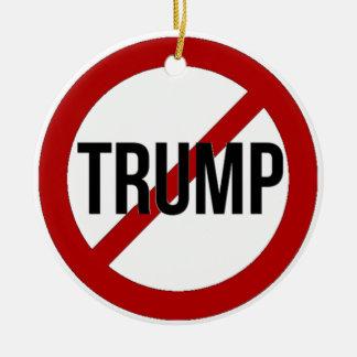 Stoppen Sie Donald Trump Anti-Trumpf Keramik Ornament