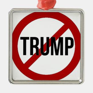 Stoppen Sie Donald Trump Anti-Trumpf Silbernes Ornament