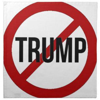 Stoppen Sie Donald Trump Anti-Trumpf Stoffserviette