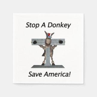 Stoppen Sie einen Esel - retten Sie Amerika Serviette