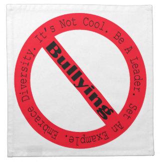 Stoppen Sie Einschüchtern-Logo durch Shirley Serviette