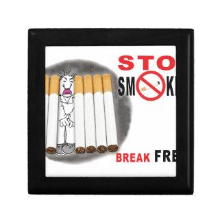 Stoppen Sie, Erinnerungen zu rauchen - nicht mehr Geschenkbox