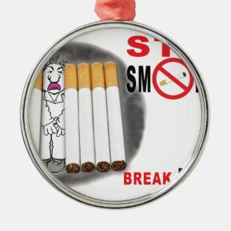 Stoppen Sie, Erinnerungen zu rauchen - nicht mehr Silbernes Ornament