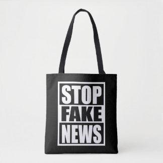 Stoppen Sie Fake-Nachrichten Tasche