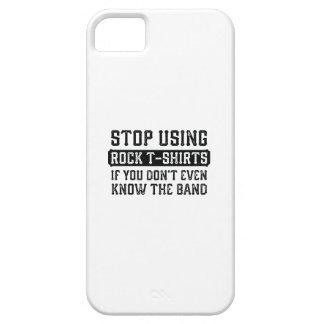 Stoppen Sie, Felsen-T - Shirts zu verwenden iPhone 5 Schutzhülle