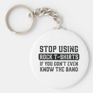Stoppen Sie, Felsen-T - Shirts zu verwenden Schlüsselanhänger