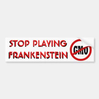 Stoppen Sie, Frankenstein zu spielen KEIN Autoaufkleber