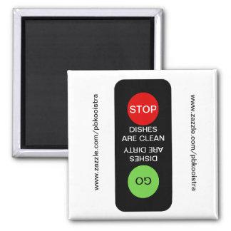 Stoppen Sie gehen sauberer schmutziger Spülmaschin Quadratischer Magnet
