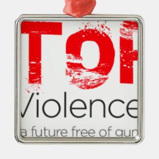 Stoppen Sie Gewehr-Gewalt Silbernes Ornament