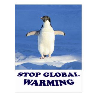 Stoppen Sie globale Erwärmung multiplizieren Postkarte