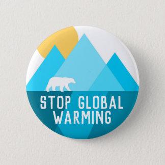 Stoppen Sie globalen Erwärmungs-polarer Runder Button 5,7 Cm