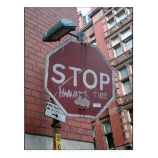 Stoppen Sie Hammer-Zeit Postkarte