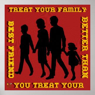 Stoppen Sie inländische Gewalt/Leckerei Ihre Famil Posterdrucke