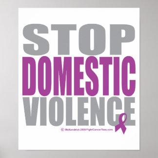 Stoppen Sie inländische Gewalt Posterdrucke