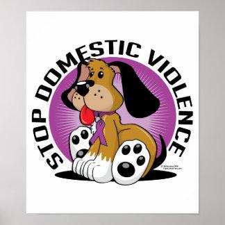 Stoppen Sie inländischen Gewalt-Hund Plakat