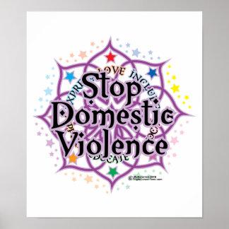 Stoppen Sie inländischen Gewalt-Lotos Plakate