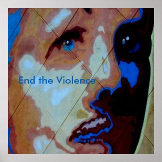Stoppen Sie inländisches Gewaltplakat Plakatdruck