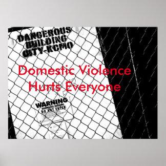 Stoppen Sie inländisches Gewaltplakat Plakatdrucke