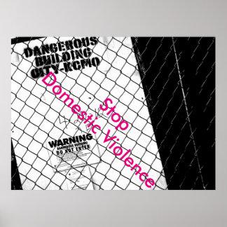 Stoppen Sie inländisches Gewaltplakat Plakat