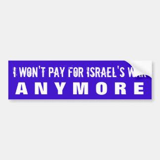 STOPPEN SIE, ISRAELISCHE KRIEGSVERBRECHEN W/U.S. T AUTO AUFKLEBER