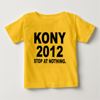 Stoppen Sie Joseph Kony 2012, Halt an nichts, T Shirts