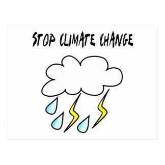 Stoppen Sie Klimawandel! Ökologieprodukte! Postkarte