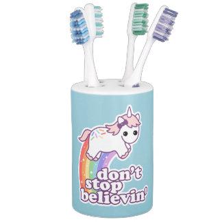 Stoppen Sie nicht Believin in den Einhörnern Seifenspender & Zahnbürstenhalter